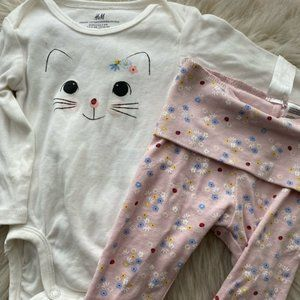H&M Baby Girl Outfit Size 2/4 Months